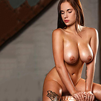 Marcella - Dream Woman with buxom Breasts heats up with a Prostate Massage in a Hotel Room in Berlin