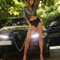Melisa - Horny Escort Lady from Berlin likes Anal Sex at Night in the Car